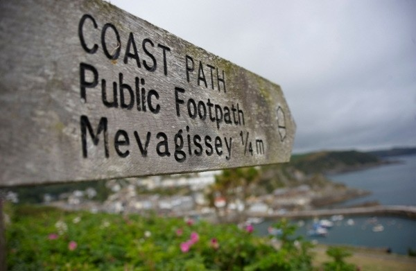 Sign post to Mevagissey