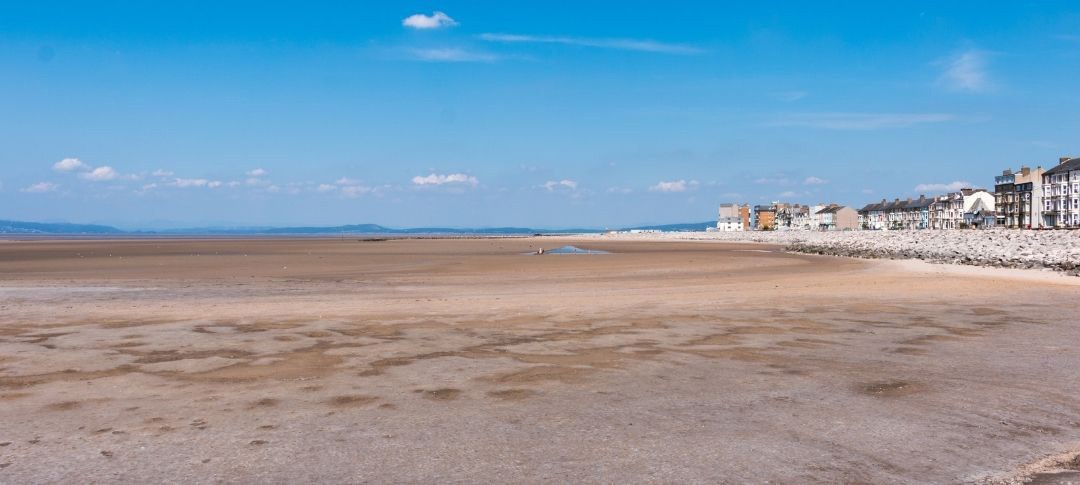 Morecambe beach and seafront