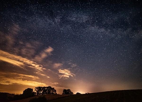 the night sky above Newton Abbot