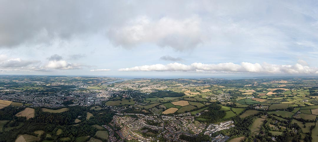 View of Newton Abbot from