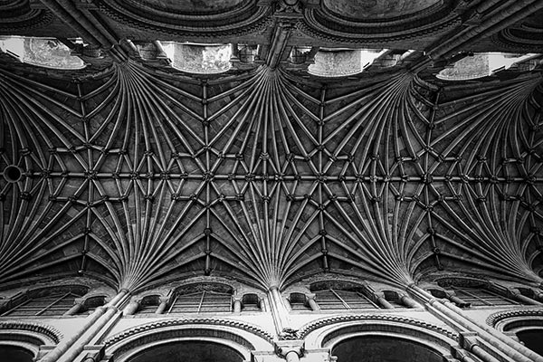 Norwich Cathedral ceiling in Norfolk