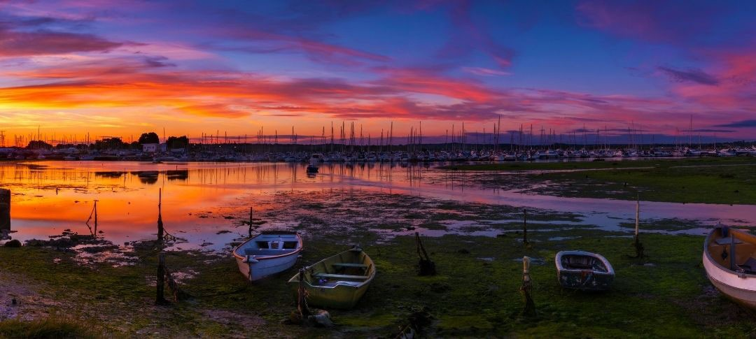 Sunset over Poole harbour