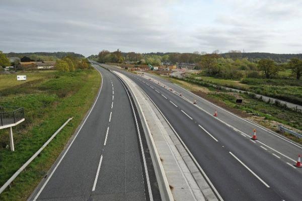 Ringwood empty dual carriageway