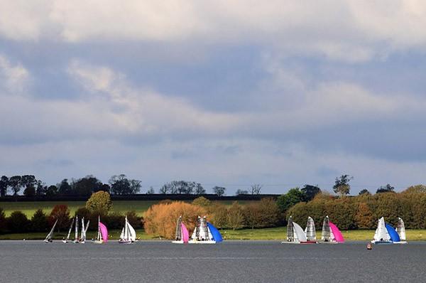 Rutland Water with sailing boats