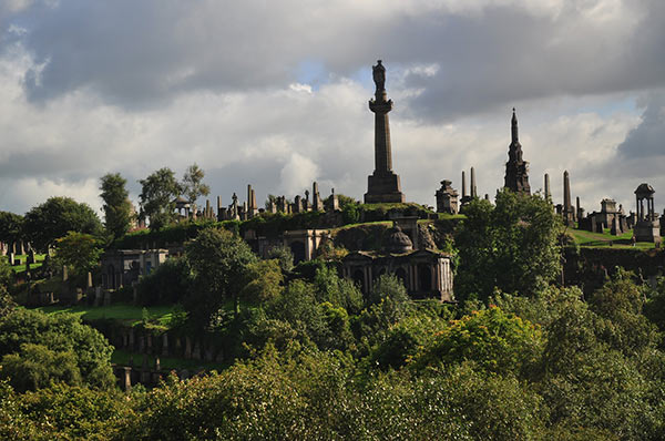 Necropolis Cemetery in Glasgow