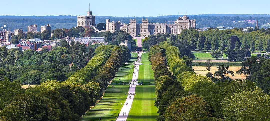 View of Windsor Castle in Surrey