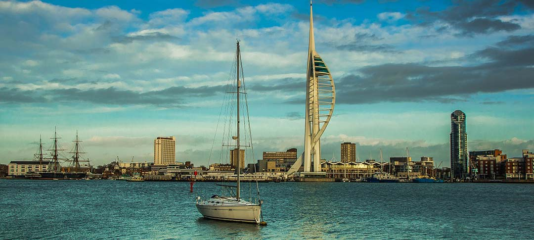View across Portsmouth to the Spinnaker Tower