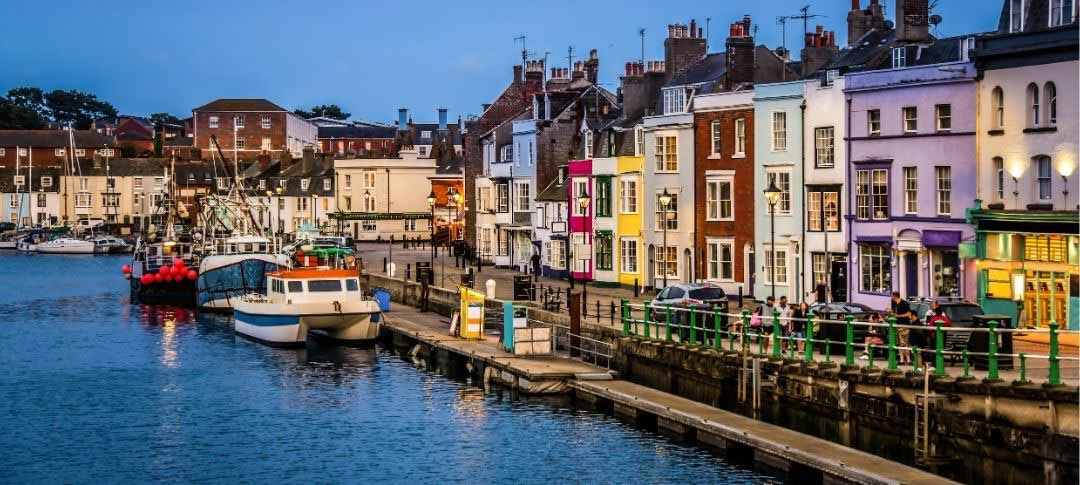 Weymouth harbour and houses