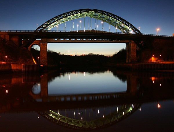 Wearmouth Bridge, Sunderland at sunset